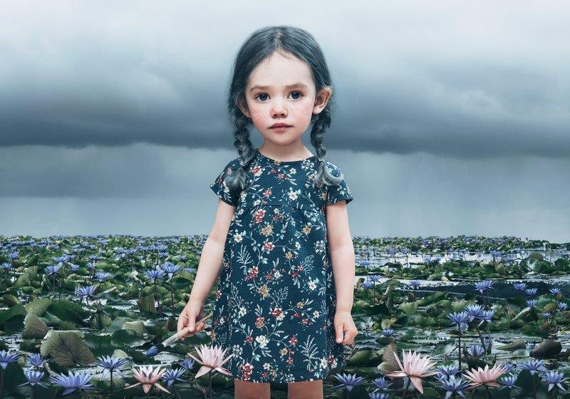 "Saga Wendotte, ""Blue Lily"", little people,fotografi fine art print"