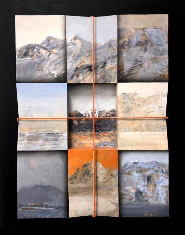 """Stefan MÅS Persson, """"Ledstång"""", akryl på mdf, 50x40 cm"""